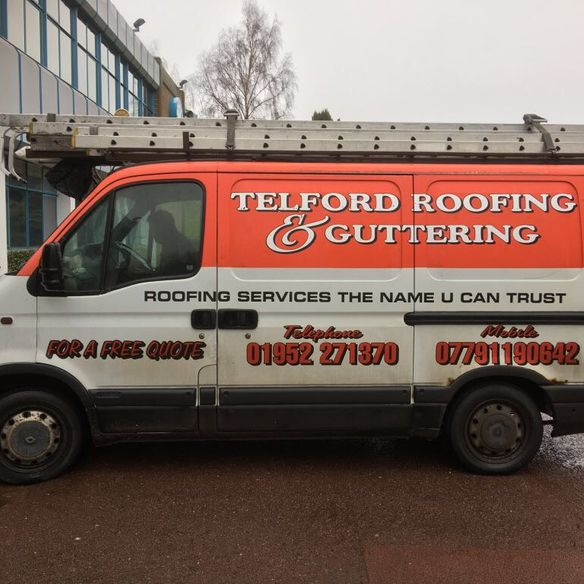 teflord roofing and guttering van